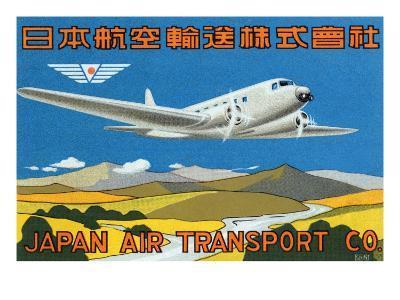 Japan Air Transport Label--Art Print