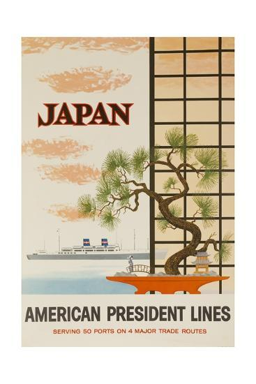 Japan American President Lines Cruise Poster--Giclee Print