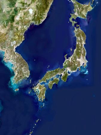 Japan And Korea, Satellite Image-PLANETOBSERVER-Premium Photographic Print