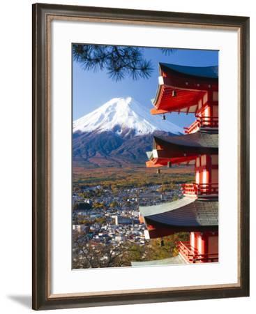 Japan, Central Honshu (Chubu), Fuji-Hakone-Izu National Park, Mount Fuji Capped in Snow-Gavin Hellier-Framed Photographic Print