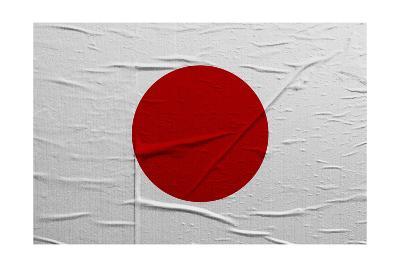 Japan Flag-igor stevanovic-Art Print