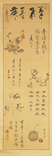 Japan, Ink Calligraphy from Edo Period--Giclee Print