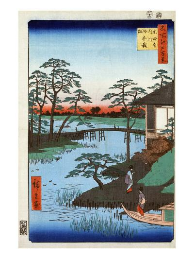Japan: Inlet, 1857-Ando Hiroshige-Giclee Print