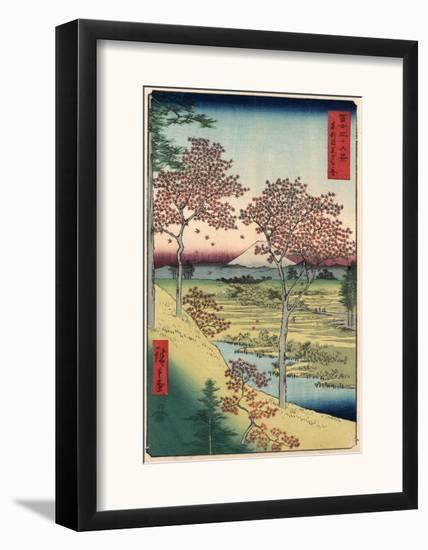 Japan: Maple Trees, 1858-Ando Hiroshige-Framed Giclee Print