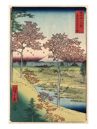 Japan: Maple Trees, 1858-Ando Hiroshige-Giclee Print