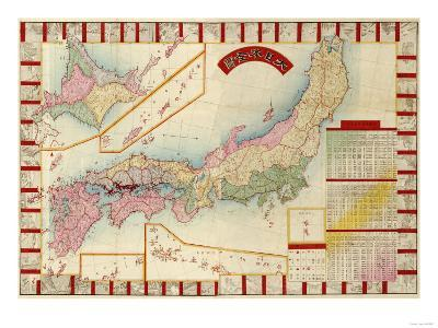 Japan - Panoramic Map-Lantern Press-Art Print