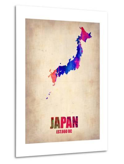 Japan Watercolor Map-NaxArt-Metal Print