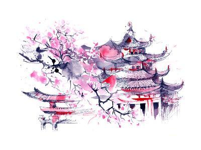 Japan-okalinichenko-Art Print