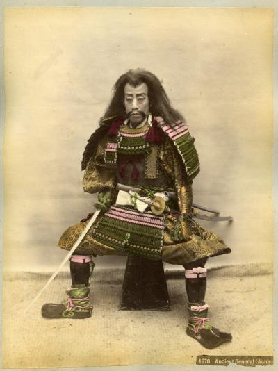 Japanese Actor in the Costume of a Samurai Warrior--Photographic Print