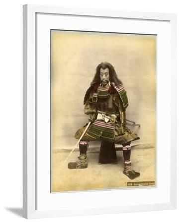 Japanese Actor in the Costume of a Samurai Warrior--Framed Photographic Print