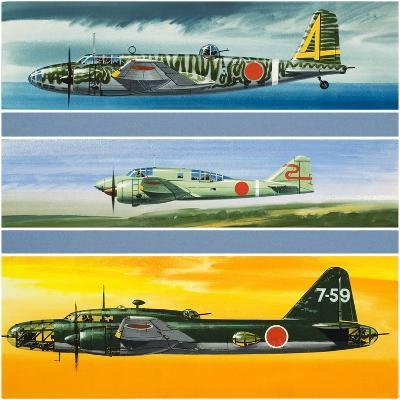 Japanese Aircraft of World War Two-Wilf Hardy-Giclee Print