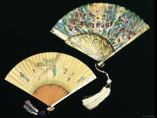 Japanese and Chinese Silk Fans, c.1850-70--Photographic Print