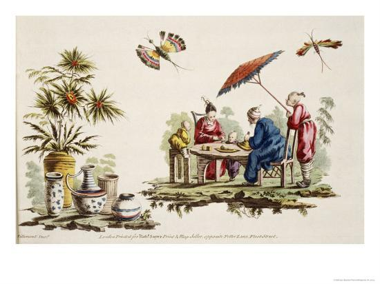 Japanese Apparel and Parasol-Jean Baptiste Pillement-Giclee Print