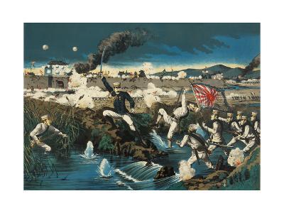 Japanese Attack Boxers at Wall City Tianjin--Art Print