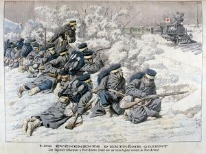 Japanese Attack on a Hospital Train Near Port Arthur, Manchuria, Russo-Japanese War, 1904