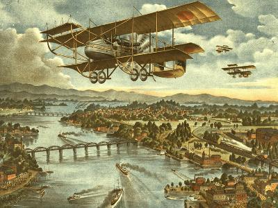 Japanese Attack Red Army in Air Land and Sea Attacks--Art Print