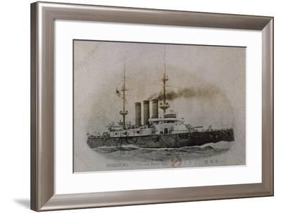 Japanese Battleship Shikishima, Russo-Japanese War--Framed Giclee Print
