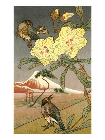 Japanese Birds and Flowers, Illustration--Art Print
