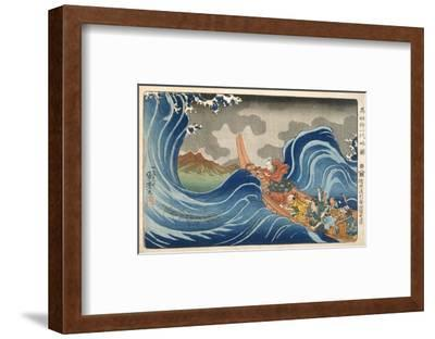 Boat and Waves (Colour Woodblock Print)