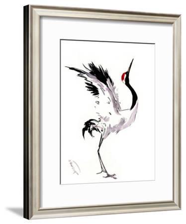 Japanese Crane Dance-Suren Nersisyan-Framed Art Print