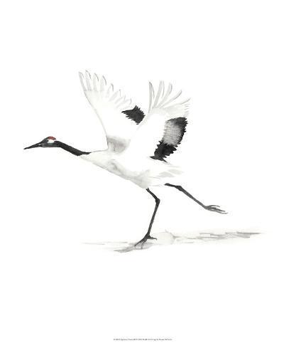 Japanese Cranes III-Naomi McCavitt-Giclee Print