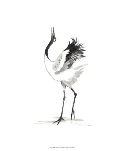 Japanese Cranes IV-Naomi McCavitt-Giclee Print