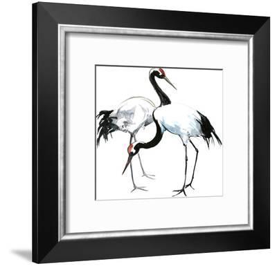 Japanese Cranes-Suren Nersisyan-Framed Art Print