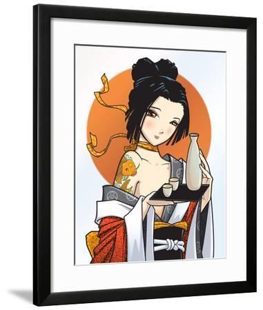 Japanese cutie-Harry Briggs-Framed Giclee Print