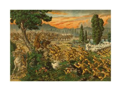 Japanese Defeat Red Army in Manchuria--Art Print