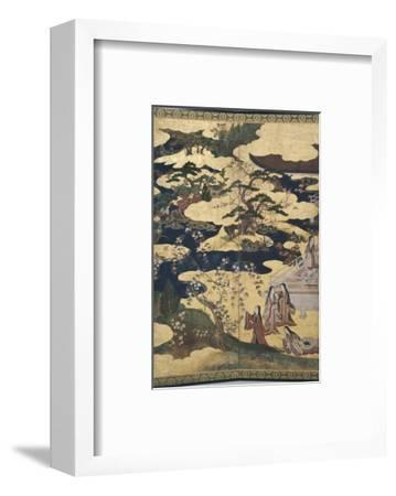 Detail of Spring in the Palace, Six-Fold Screen from 'The Tale of Genji', C.1650