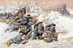 Japanese Firing on Russian Red Cross Train, Russo-Japanese War, 1904