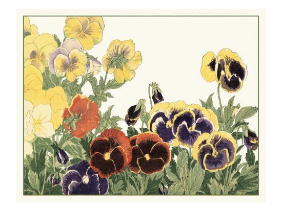 Japanese Flower Garden V-Konan Tanigami-Art Print