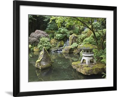 Japanese Garden, Portland, Oregon, Usa-Connie Bransilver-Framed Photographic Print