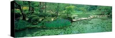Japanese Garden--Stretched Canvas Print
