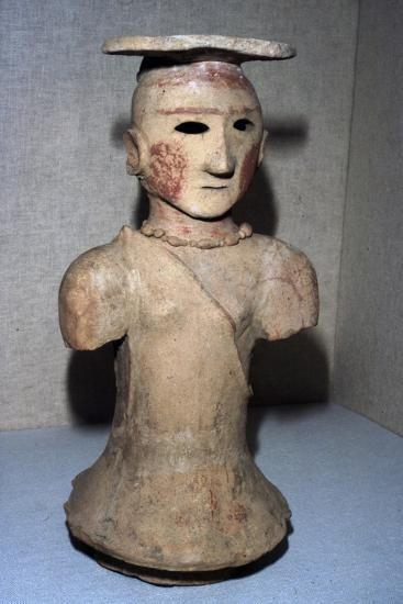 Japanese Haniwa figure of Shamaness Tomb-figure, 5th-6th century-Unknown-Giclee Print