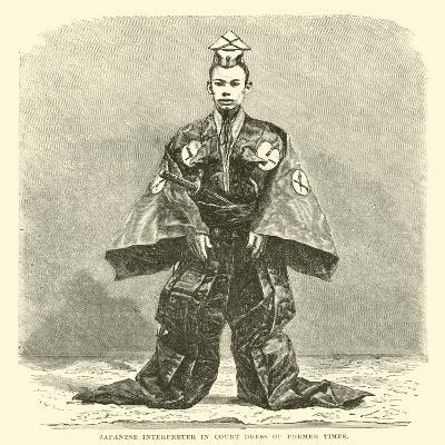 Japanese Interpreter in Court Dress of Former Times--Giclee Print