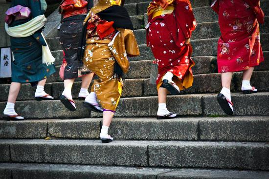 Japanese Ladies in Traditional Dress-Neale Cousland-Photographic Print