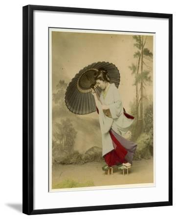 Japanese Lady--Framed Photographic Print