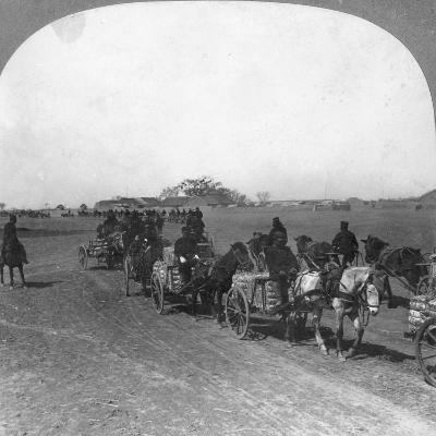 Japanese Military Transportation Train, Manchuria, 1906--Giclee Print