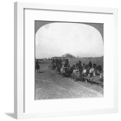 Japanese Military Transportation Train, Manchuria, 1906--Framed Giclee Print
