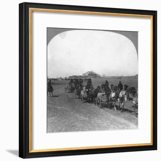 Japanese Military Transportation Train, Manchuria, 1906--Framed Giclee Print