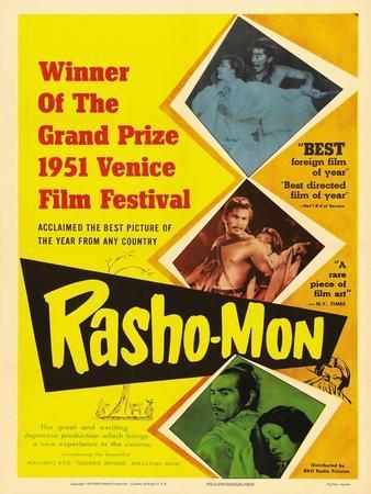 Japanese Movie Poster - Rashomon in English Giclee Print by | Art com