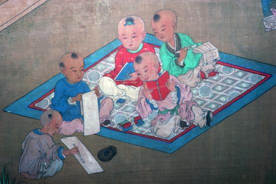 Japanese painting of children at play, 18th century. Artist: Unknown-Unknown-Giclee Print