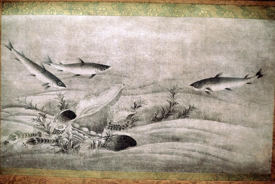 Japanese painting of fish. Artist: Unknown-Unknown-Giclee Print