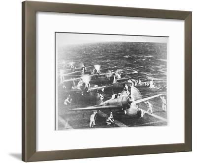 Japanese Aircraft Carrier 'Akagi', Flagship of Admiral Nagumo, Pearl Harbor, 7th December, 1941