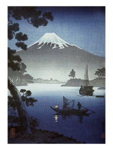 Japanese Print (Mt Fuji from Tagonoura)