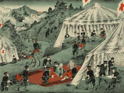 Japanese Red Cross Cares for the Wounded--Art Print