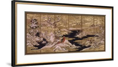 Japanese Screen II--Framed Art Print