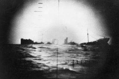 Japanese Ship Sinking--Photographic Print