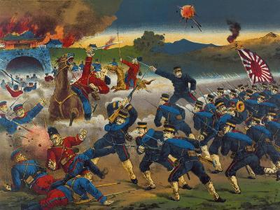 Japanese Soldiers Overrun Russians at Chin-Chou--Art Print